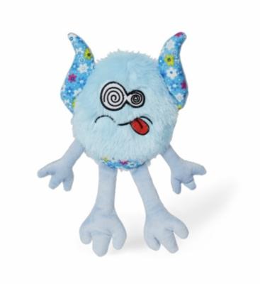"BUDZ Dog Toy Plush Monster ""LOOMY"" Floral Pattern 11'' BLUE"