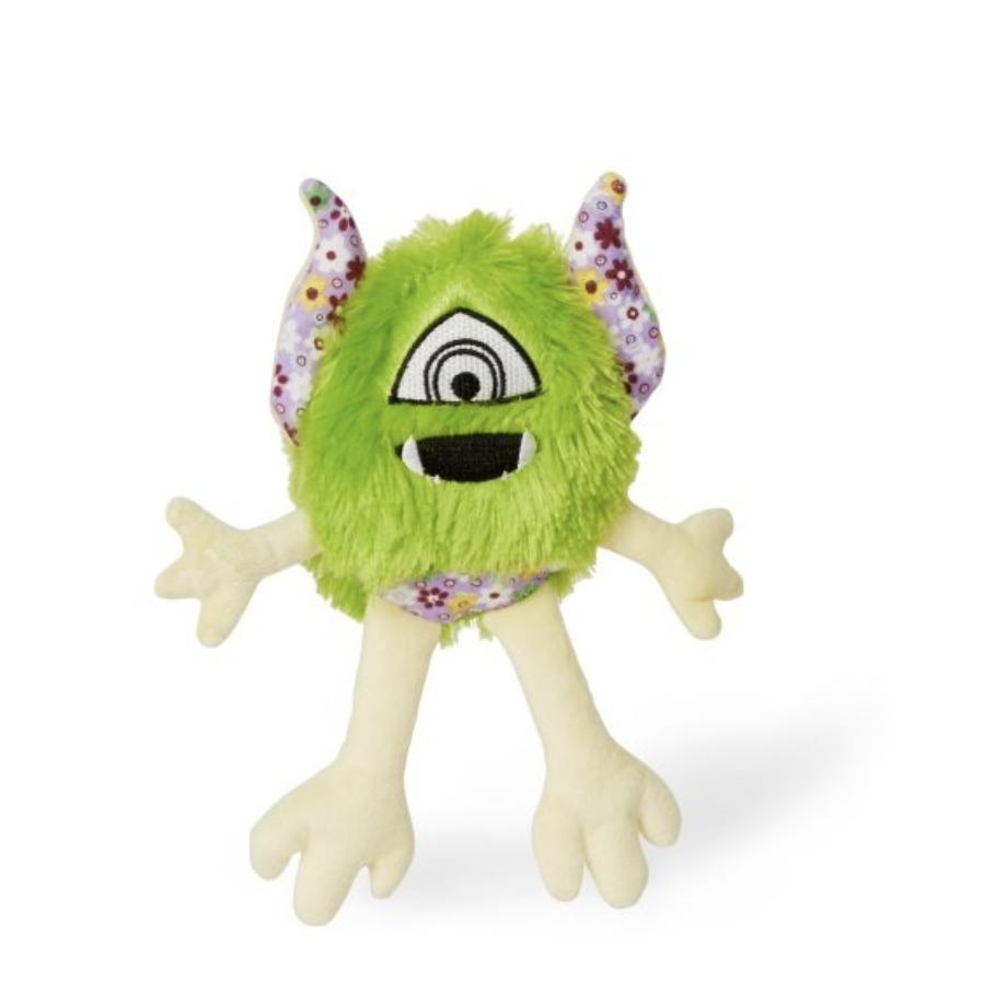"BUDZ Dog Toy Plush Monster ""LOOMY"" Floral Pattern 11'' GREEN"