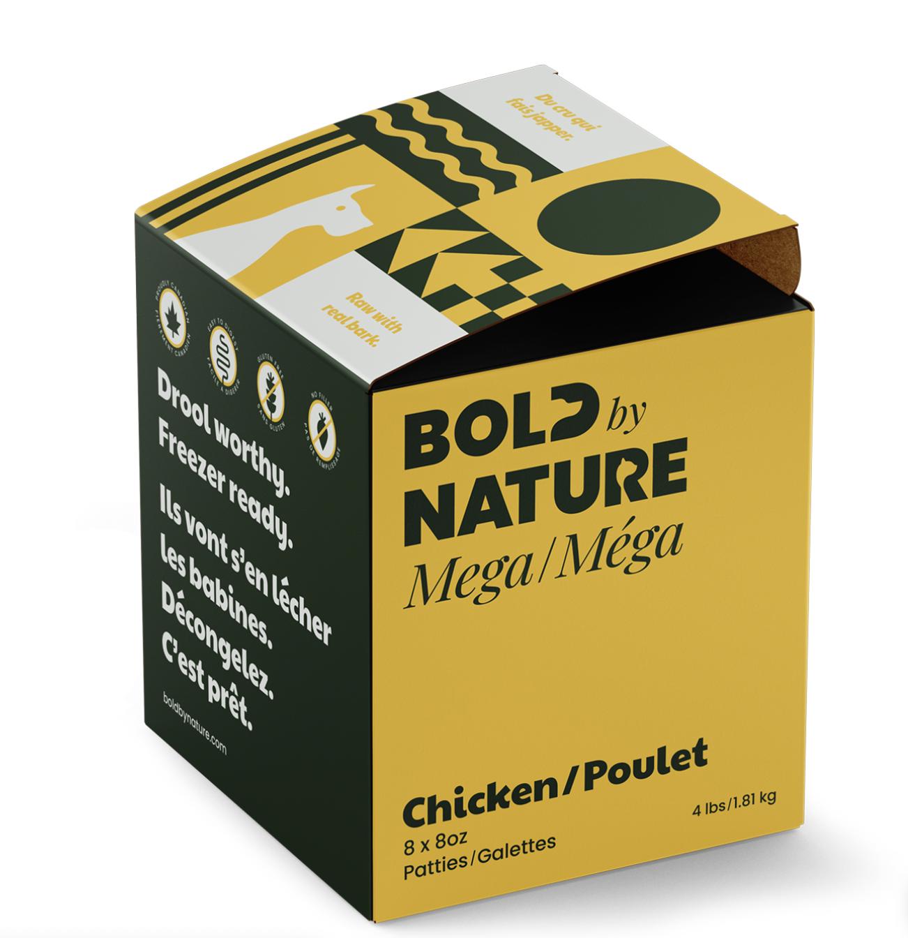 Bold Dog Mega Chicken Patties 4lb