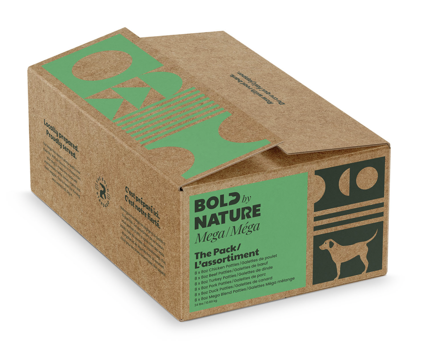 Bold Dog Mega Variety Box All Proteins 24lbs