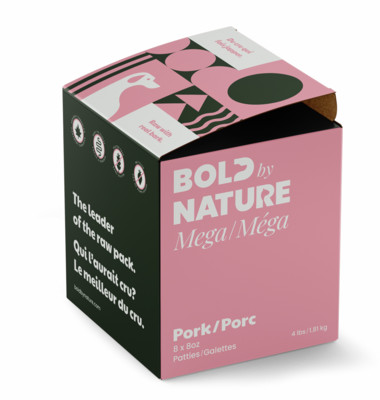 Bold Dog Mega Pork Patties 4lb