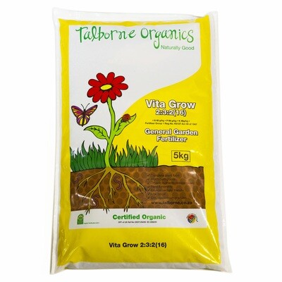 Talborne Vita Grow 2:3:2 (16) fertilizer bagged