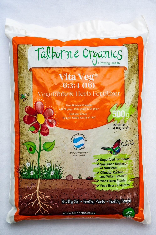 Talborne Vita Veg 6:3:4 (16) fertilizer .5kg