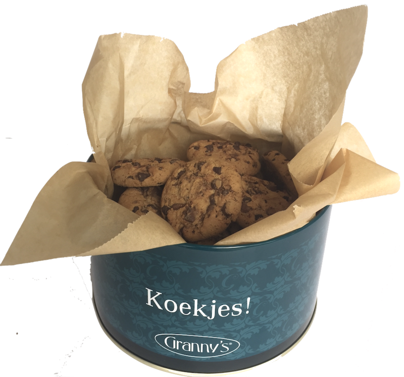 Granny's chocochip cookies in blik 450 gr