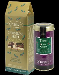 CHRISTMAS CAKEMIX & TEA: samen slechts € 13,95!