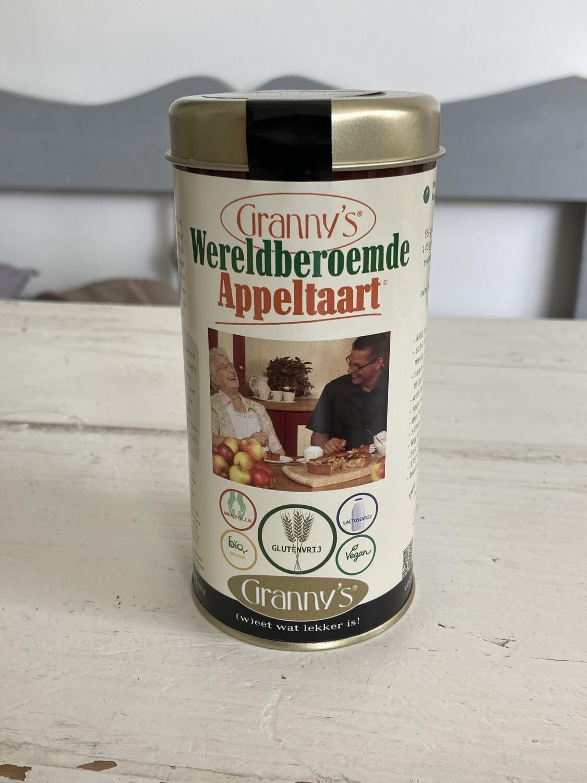Granny's Wereldberoemde Appeltaart mix GLUTENVRIJ  -voor 2 taarten-