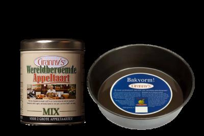 'Zorgeloos bakken' Taartvorm groot & 1 blik appeltaartmix en gratis verzonden.