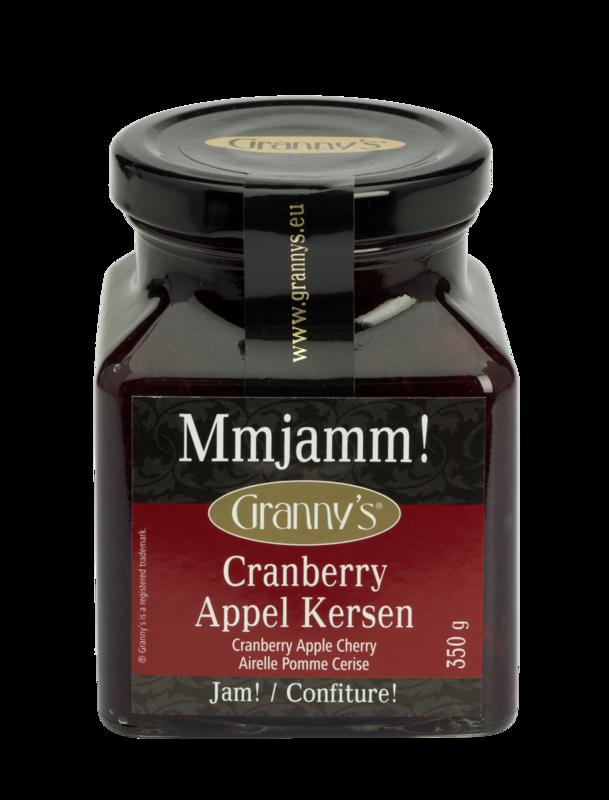 cranberry appel kersen jam