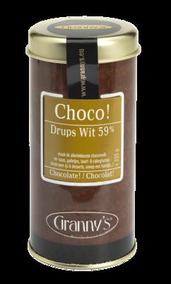 chocodrups 59% wit, 225 gr