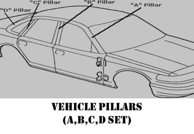 Vehicle Pillar Set (A,B,C,D)