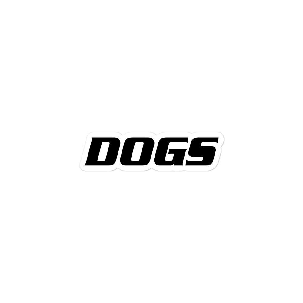 TLU Softball DOGS Black Bubble-free stickers