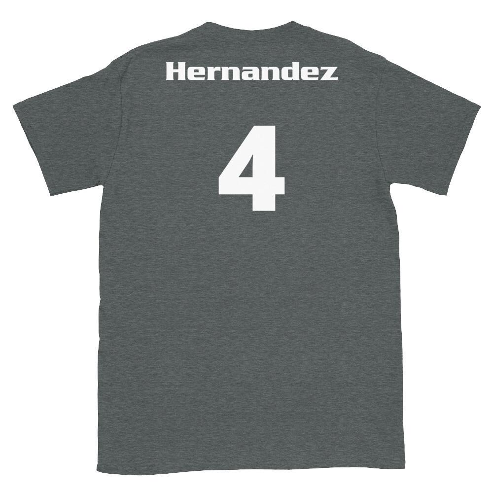 TLU Softball Number 4 Hernandez Short-Sleeve Unisex T-Shirt