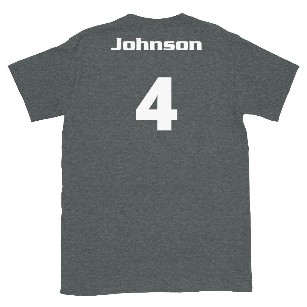 TLU Softball Number 4 Johnson Short-Sleeve Unisex T-Shirt
