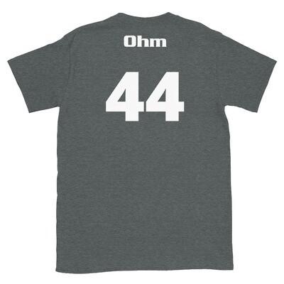 TLU Softball Number 44 Ohm Short-Sleeve Unisex T-Shirt