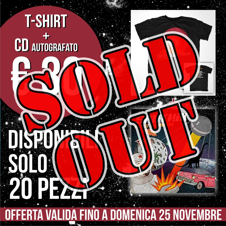 Pacchetto Offerta CD autografato + T-shirt astronauta