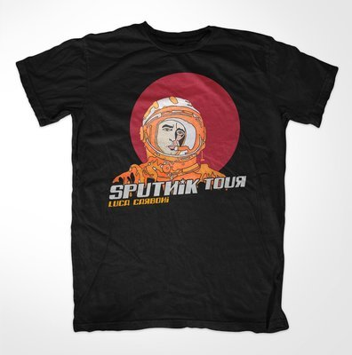 T-shirt Sputnik Tour con calendario date sul retro
