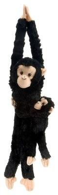 "Wild Republic - Hanging Chimpanzee with Baby Stuffed Animal - 20"""