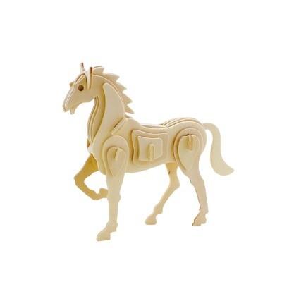 3D Wooden Puzzle: Horse