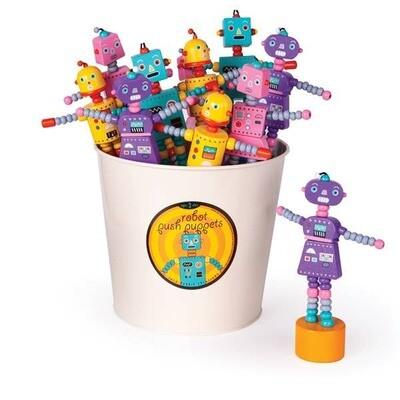 Jack Rabbit Creations - Retro Robot Push Puppets