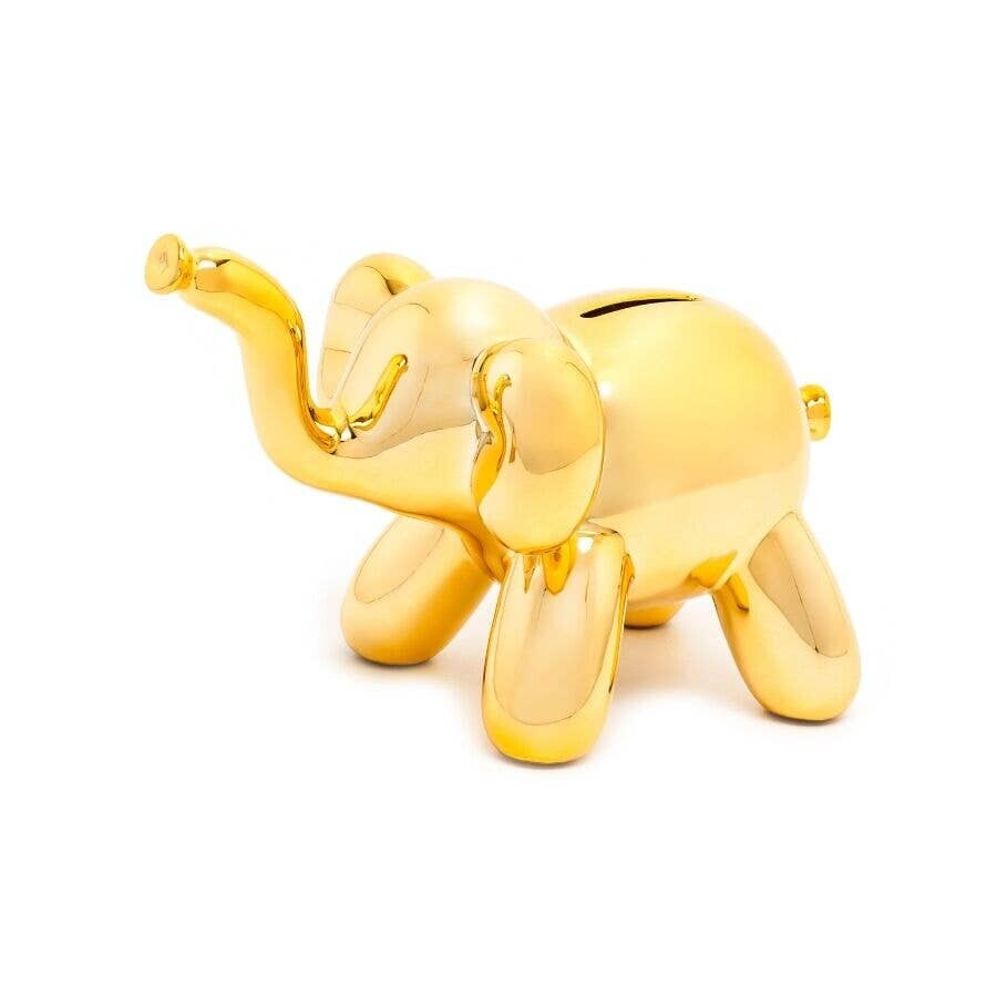 Made By Humans Designs - Baby Elephant Balloon Piggy Bank