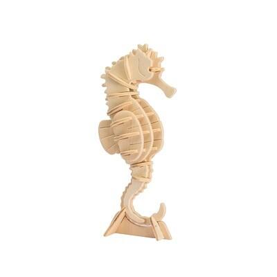 3D Wooden Puzzle: Sea Horse