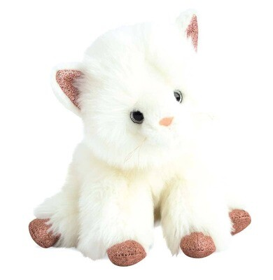 Doudou Et Compagnie - Cat Stuffed Animal with Pink Glitter Accents