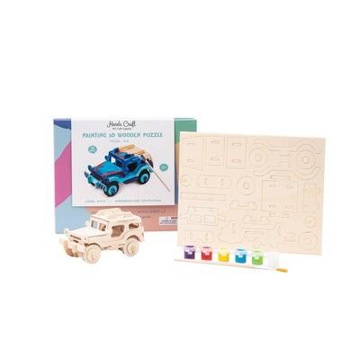3D Wooden Puzzle Paint Kit: SUV