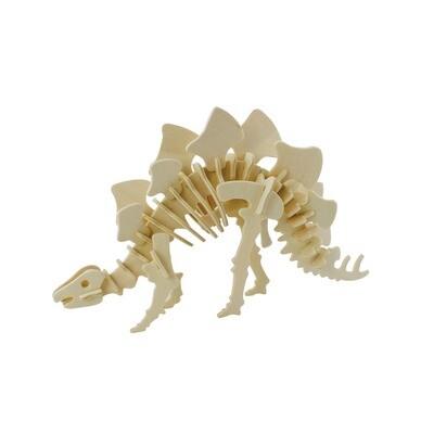 3D Wooden Puzzle: Stegosaurus