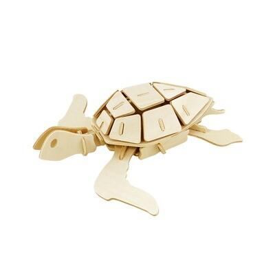 3D Wooden Puzzle: Sea Turtle