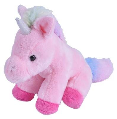 "Wild Republic - Pink Unicorn Stuffed Animal- 5"""