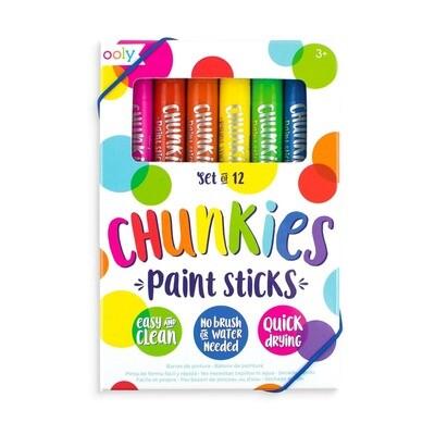 OOLY - Chunkies Paint Sticks Original Pack - Set of 12