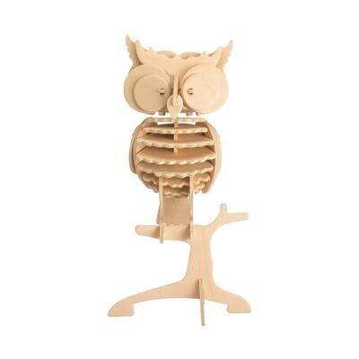 3D Wooden Puzzle: Owl