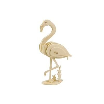 3D Wooden Puzzle: Flamingo
