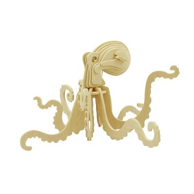 3D Wooden Puzzle: Octopus