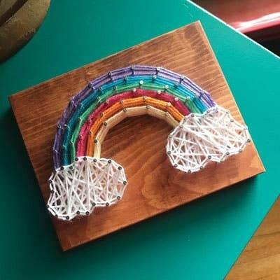 Strung by Shawna - Rainbow Mini String Art Kit - DIY