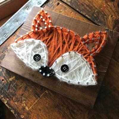 Strung by Shawna - Fox Mini String Art Kit - DIY