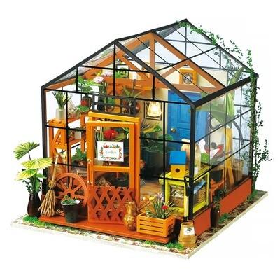 Cathy's Flower House DIY Miniature Dollhouse Kit