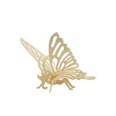 Hands Craft - JP204, 3D Wooden Puzzle: Butterfly