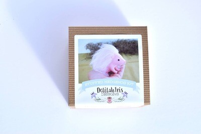 Pink Hedgehog DIY Stuffed Animal Sewing Kit