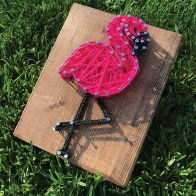 Strung by Shawna - Flamingo Mini String Art Kit - DIY