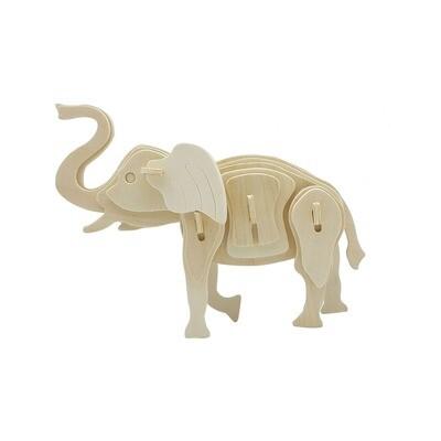 3D Wooden Puzzle: Elephant