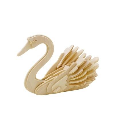 3D Wooden Puzzle: Swan