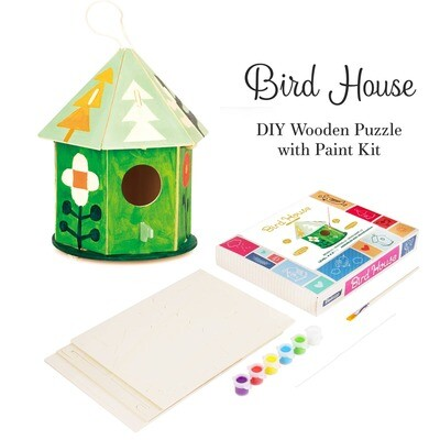 Hands Craft - FY197, DIY 3D Wooden Birdhouse with Paint Kit