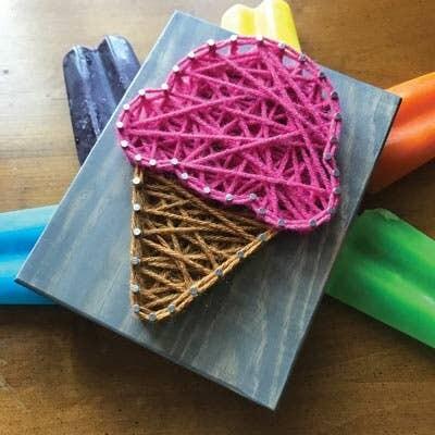 Strung by Shawna - Ice Cream Mini String Art Kit - DIY