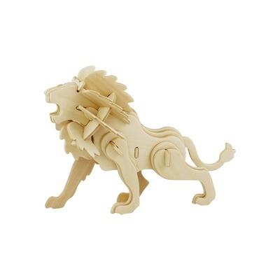 3D Wooden Puzzle: Lion