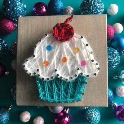 Strung by Shawna - Cupcake Mini String Art Kit - DIY