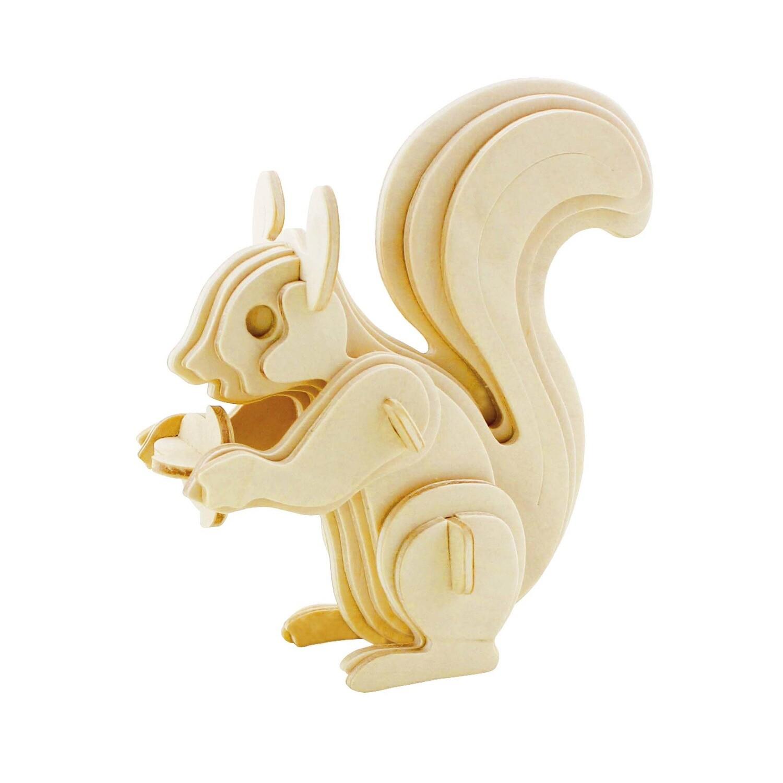 3D Wooden Puzzle: Squirrel
