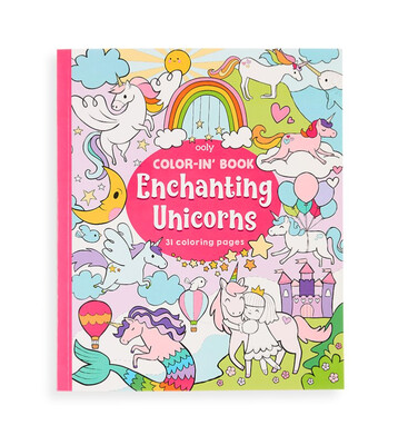 OOLY - Color-in' Book: Enchanting Unicorns