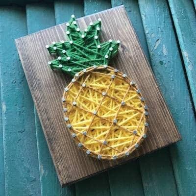 Strung by Shawna - Pineapple Mini String Art Kit - DIY