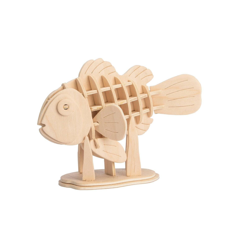 3D Wooden Puzzle: Clownfish